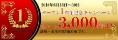 オープン1周年記念キャンペーン!!