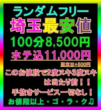 埼玉最安値ランダム100分8,500円★